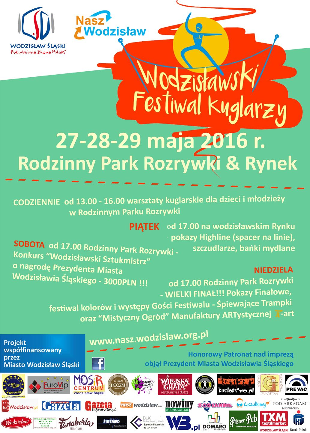 festiwal kuglarzy plakat